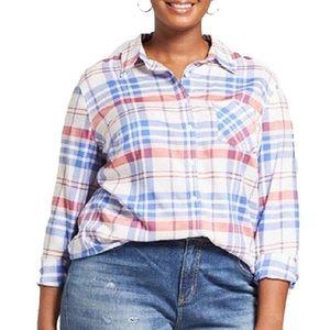 NWT Ava & Viv Button Down Shirt || Size X